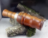 Short Reed Rosewood goose Call with Silver Band (game call- duck) #G