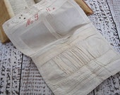 Vintage French Sewing Sampler. Stitches, pleats and Embroidery.