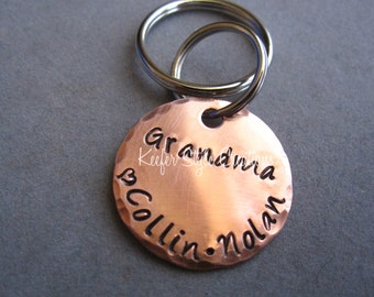 Hand Stamped Grandmother Keychain