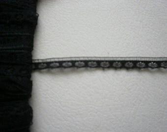 Lace Black 1/4 inch Wide Lingerie Doll Camisole Vest Shirt Lace 5 yds  1476