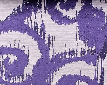 Custom Curtains in Sapphire in Scroll Pattern One Panel Custom sizes available