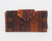 Tapestry Clutch Purse Wallet 1960's