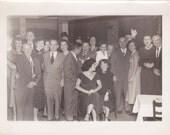 Group at a Party - Vintage Photograph, Vernacular, Ephemera  (ZZ)
