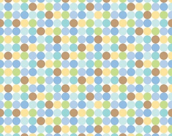 Snips & Snails Dots Multi by Doodlebug Designs for Riley Blake, 1/2 yard