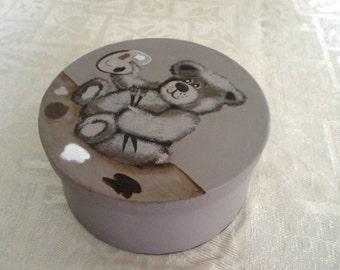 Teddy Bear Round Box