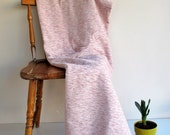 Cotton & Velvet Pink Handwoven Soft Warm Blanket,Seat Cover,Bedspread Ecofriendly Sofa,Seat Covers