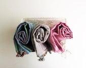 Towel Set,Handwoven Organic Cotton Towels-Soft Naturel Peshtemal,Ecofriendly Turkish Cotton Bath,Beach,Spa,Yoga,Pool Towel