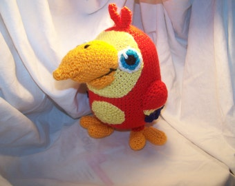 Crochet Larry The Parrot Can be made to rattle crochet parrot