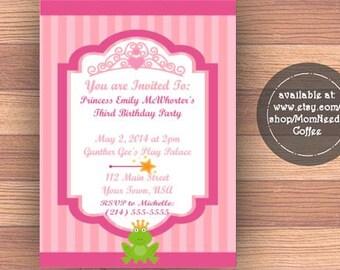 Tiara Invitation, Tiara Birthday Invitation, Tiara Invitation, Tiara Invite, Tiara invites, tiara party invite