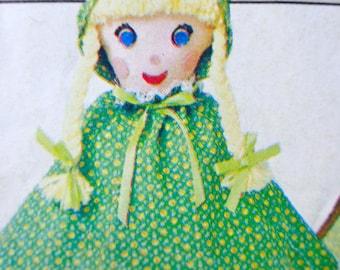 70s Topsy Turvy Doll Pattern Butterick 4149 Reversible 12 in Doll Sewing Pattern Goldilocks & Bears Butterick 216 UNCUT