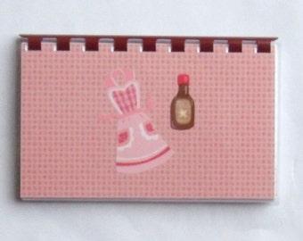 "Handmade ""Pink Apron"" Blank Recipe book"
