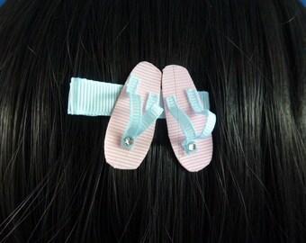 SALE - NEW - Pretty Beach Summer Sandles Sandals Hair Clip... Hair Accessory..Hair Bow