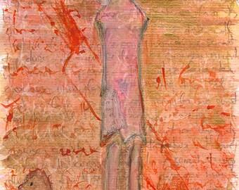 Lorca, Blood Wedding. Giclee print for theater lover. Art brut, raw art, outsider art