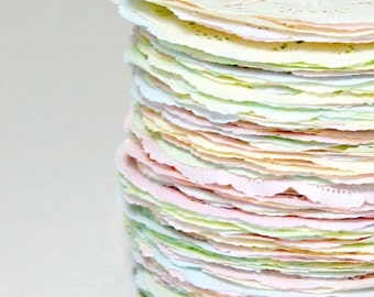 12 INCH | 100 - Shabby Rustic Hand Dyed Paper Doilies | You Chose the Style & Color [Or Color Combination]