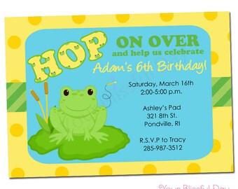 PRINTABLE Boy Frog Invitation #530
