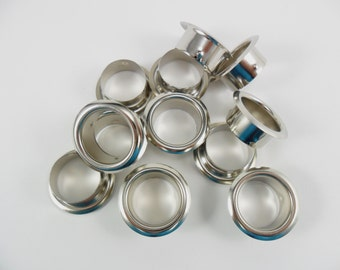 12 Candle Stick Rings Nickle Plated Candlestick Candle Cup Ring Inserts