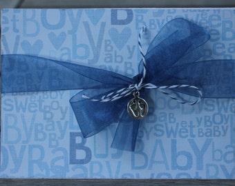 Baby Boy Congrats card-Sweet Baby Boy