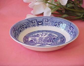 Old Vintage Blue Willow Vegetable Bowl Homer Laughlin 1945