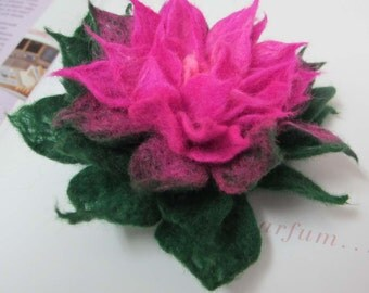 Felted  flower brooch  flower