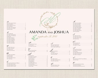 WHIMSY MONOGRAM Seating Chart