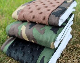 Camoflauge Cloth Diaper Camo Burp Rag 3-Pack