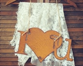 I love u Rusty Metal Sign by Junk Love and Co. Wedding Gift