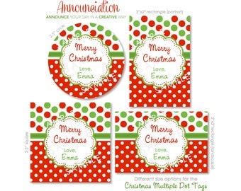Personalized Christmas Sticker Labels (24)