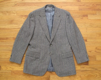 mens vintage Tom James herringbone tweed sport coat