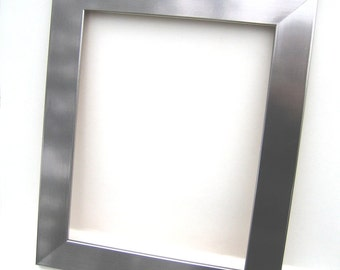 Metallic Silver Wood Frame - Contemporary Home Decor - Picture Frame