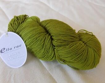 Ella Rae Lace Merino, fingering weight yarn, Mustard color