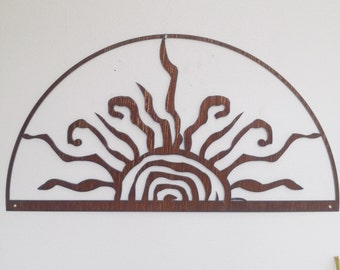 Rustic Sun Indoor/Outdoor Wall Decor 30 recycled steel