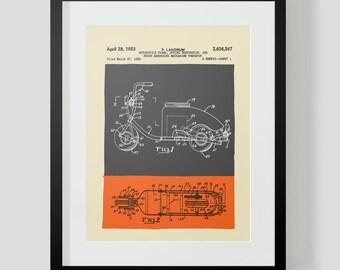 Vintage Scooter Patent Print
