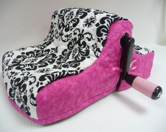 DELIGHTFUL DAMASK with Hot Pink - Big Shot Cozy - Big Shot Dust Cover - Dust Cover - Cozy