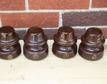Porcelain Insulators - set of 4 - Ohio Brass