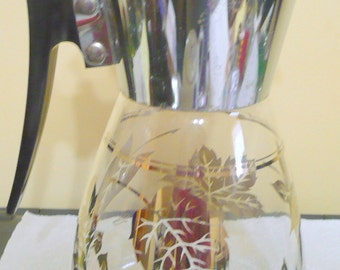 Colony Coffee, Tea Carafe, Gold Leaves
