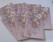 Set of 9 Small Wedding Gift Thank You Cards  - Unused Circa 1940s