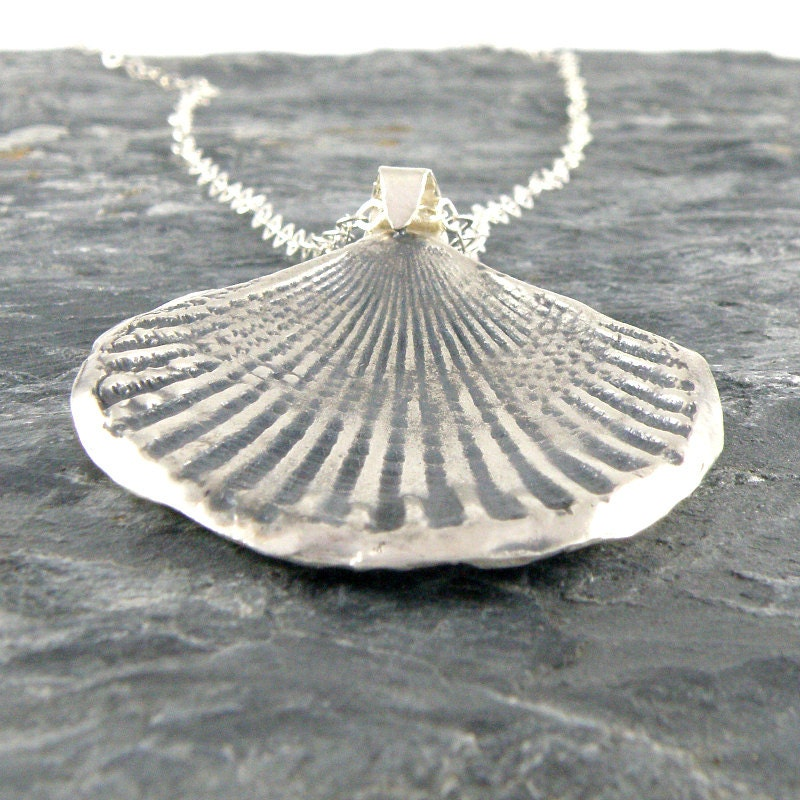 Make Your Own Seashell Jewelry: Silver Seashell Necklace Sterling Silver Necklace Gifts For