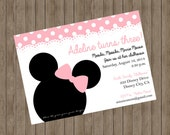 Minnie Mouse Invitation ~ Printable