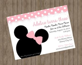 Minnie Mouse Invitation ~ Printable