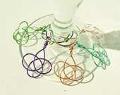 Wine Charms - Wedding Favors - Bridal Shower Favors - Party Favors - Celtic Knot Wine Charms - Set of 10 - 100% Handmade in USA