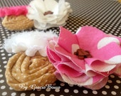 Gingerbread Man Cluster Flower Hair Clip