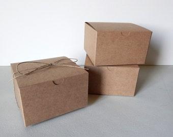 "20 - 5x5x3"" Kraft Gift Boxes"
