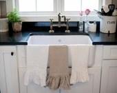 Ruffled Linen Dish Towel