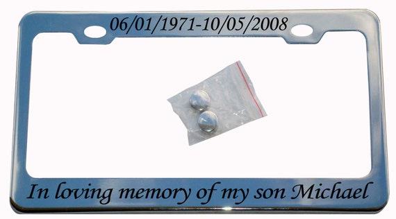 in loving memory metal license plate frame custom personalized memorial frame for your car