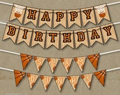 Basketball Party Happy Birthday Banners Decorations - Printable DIY - INSTANT DOWNLOAD