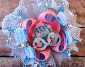 Cinderella inspired princess carriage layered boutique hair bow