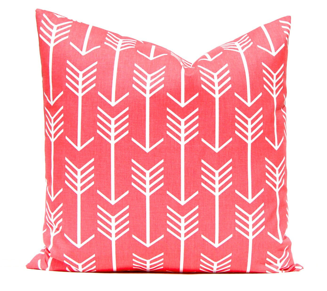 coral pillow covers coral and white arrows throw pillow. Black Bedroom Furniture Sets. Home Design Ideas