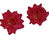 12 PCS. 1.75 inches Mini Light Red  Rose flower Craft and Decoration