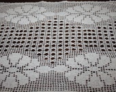 Wedding table runner, lace, table decoration, crocheted cloth, centre piece, hand made, table runner, napkin, cream