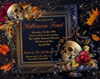 Halloween Invitations, Halloween Party, All Hallows Eve, Halloween Dinner Party, Party Invitations, Halloween Invitation